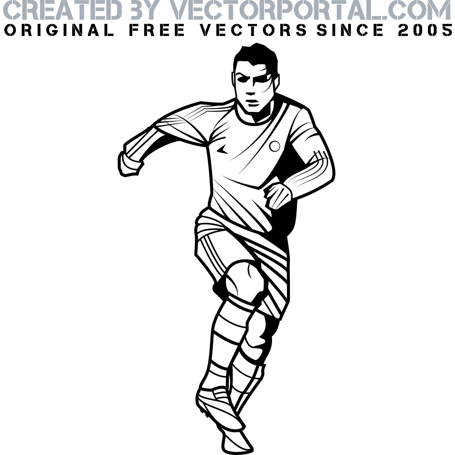 Free Football Player Vector Download Free Clip Art Free