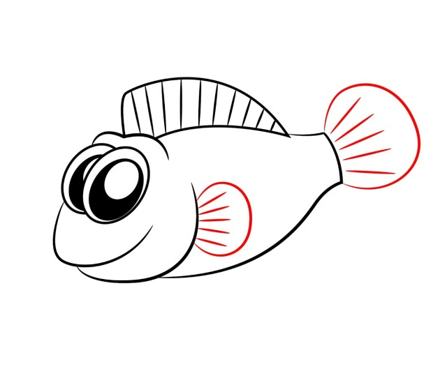 How To Draw A Cartoon Fish Draw Central