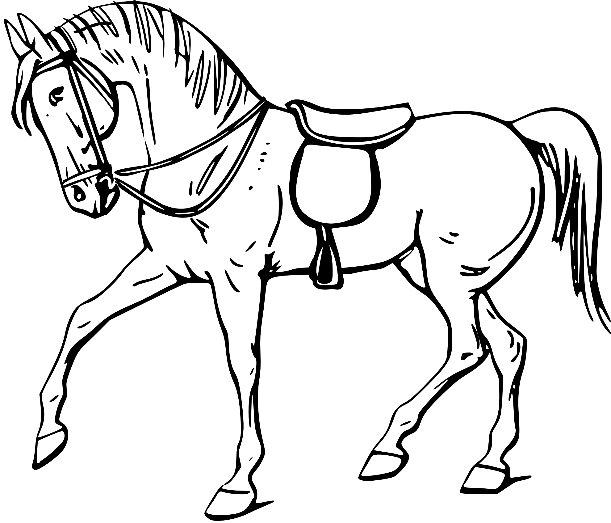 Free Horse Outline Images Download Free Clip Art Free