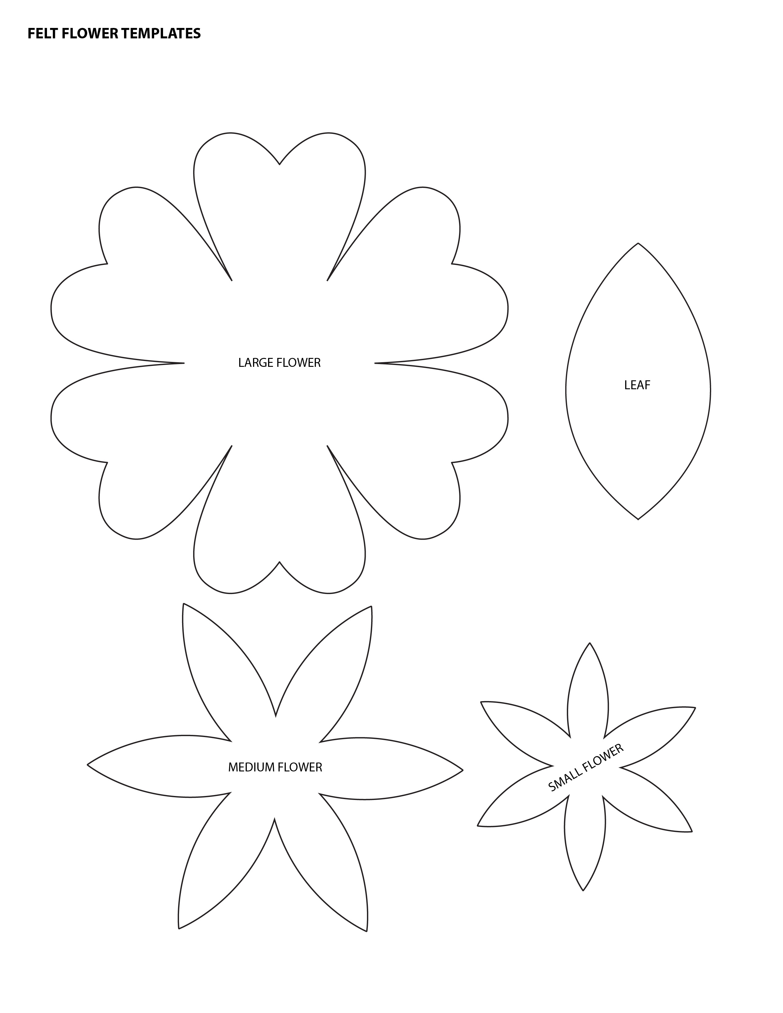 Free Flower Templates Download Free Clip Art Free Clip Art On Clipart Library