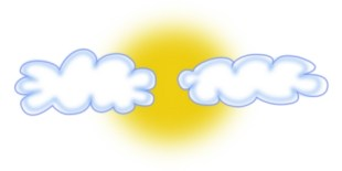Image result for clouds sun clipart
