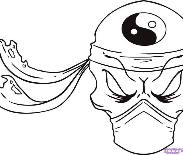 Easy Drawings Skull Kids Drawing Coloring Page