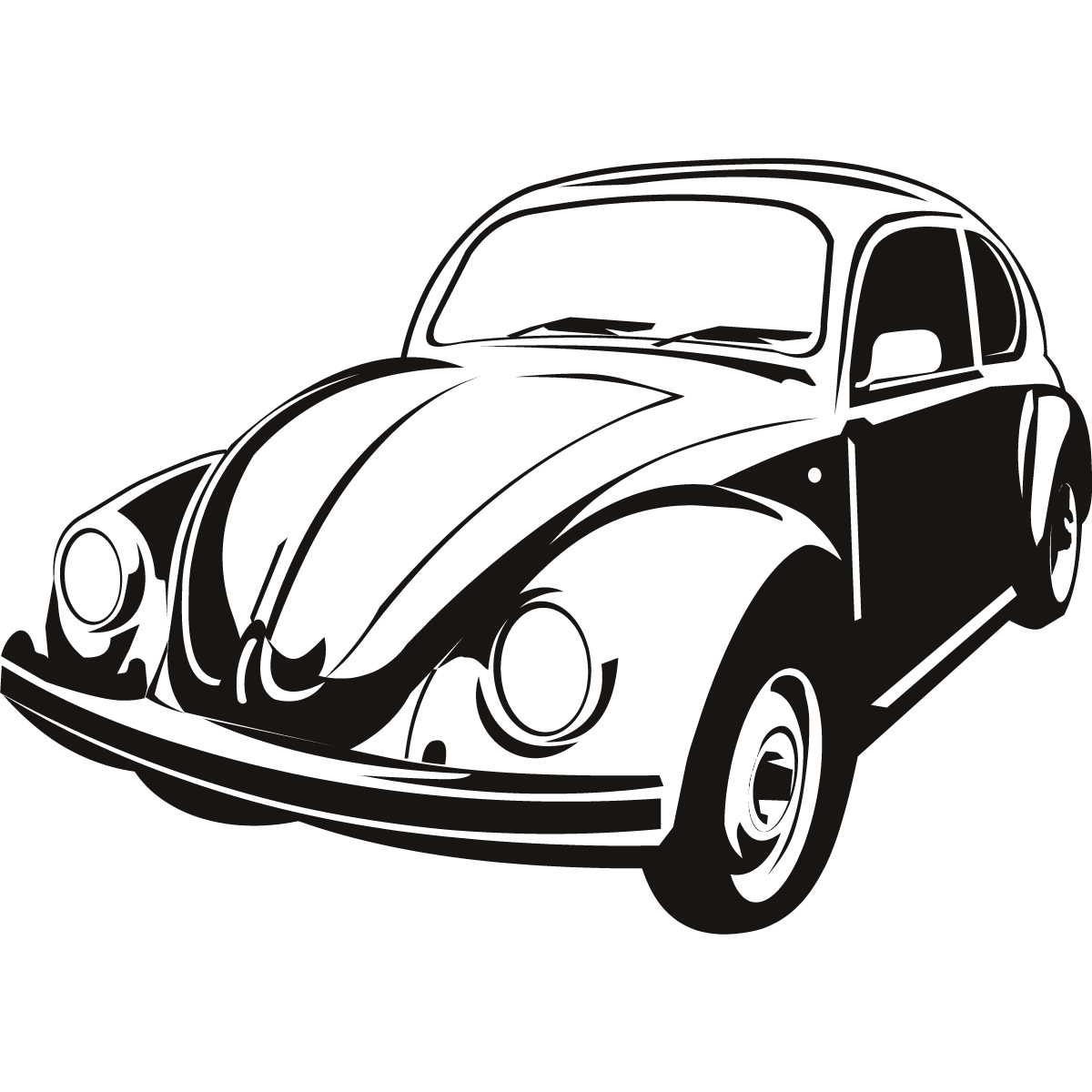 Vw Beetle Cars Transport Wall Art Sticker Wall Decal