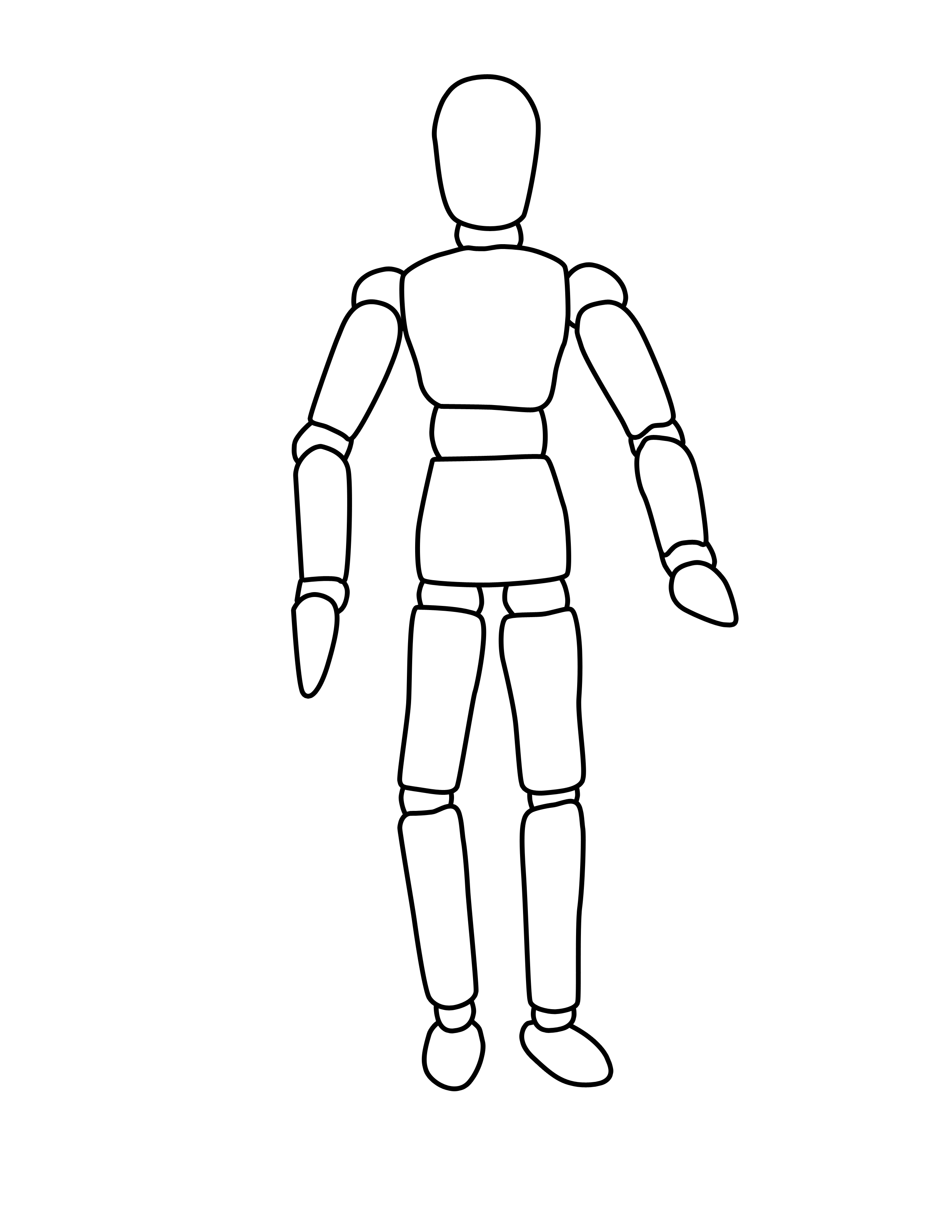 Free Human Body Outline Printable Download Free Clip Art Free Clip Art On Clipart Library