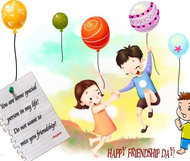 Cartoon Images Of Friendship Day Gallery