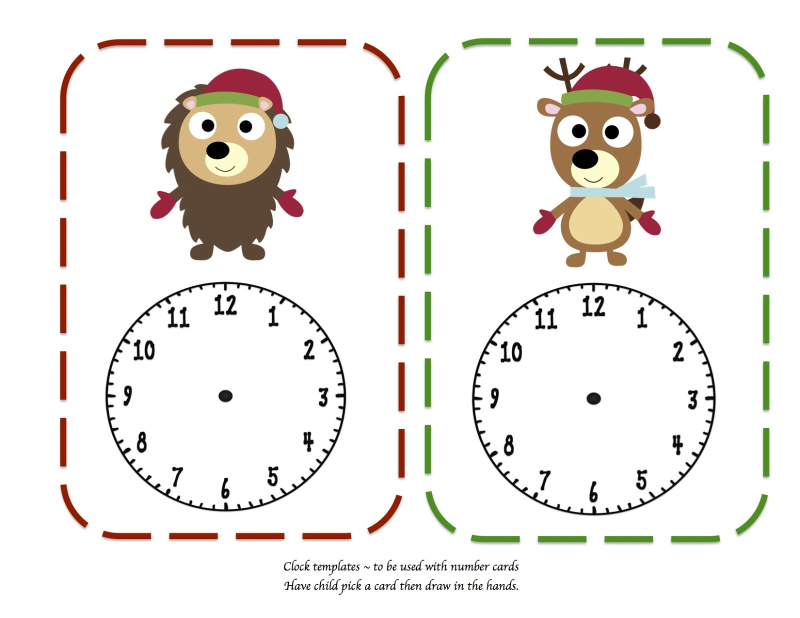 Preschool Printables Christmas Bud S Learning To Tell Time