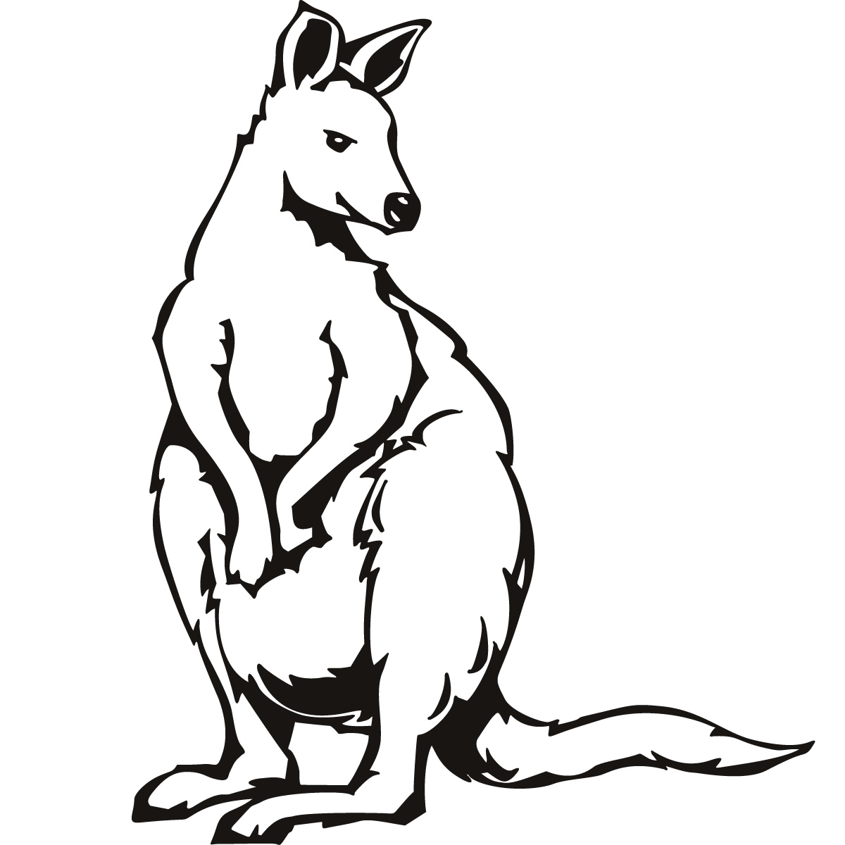 Trends For Kangaroo Coloring Pages Clip Art Library