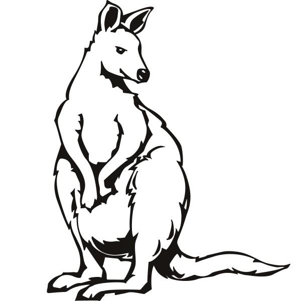 kangaroo coloring pages # 27