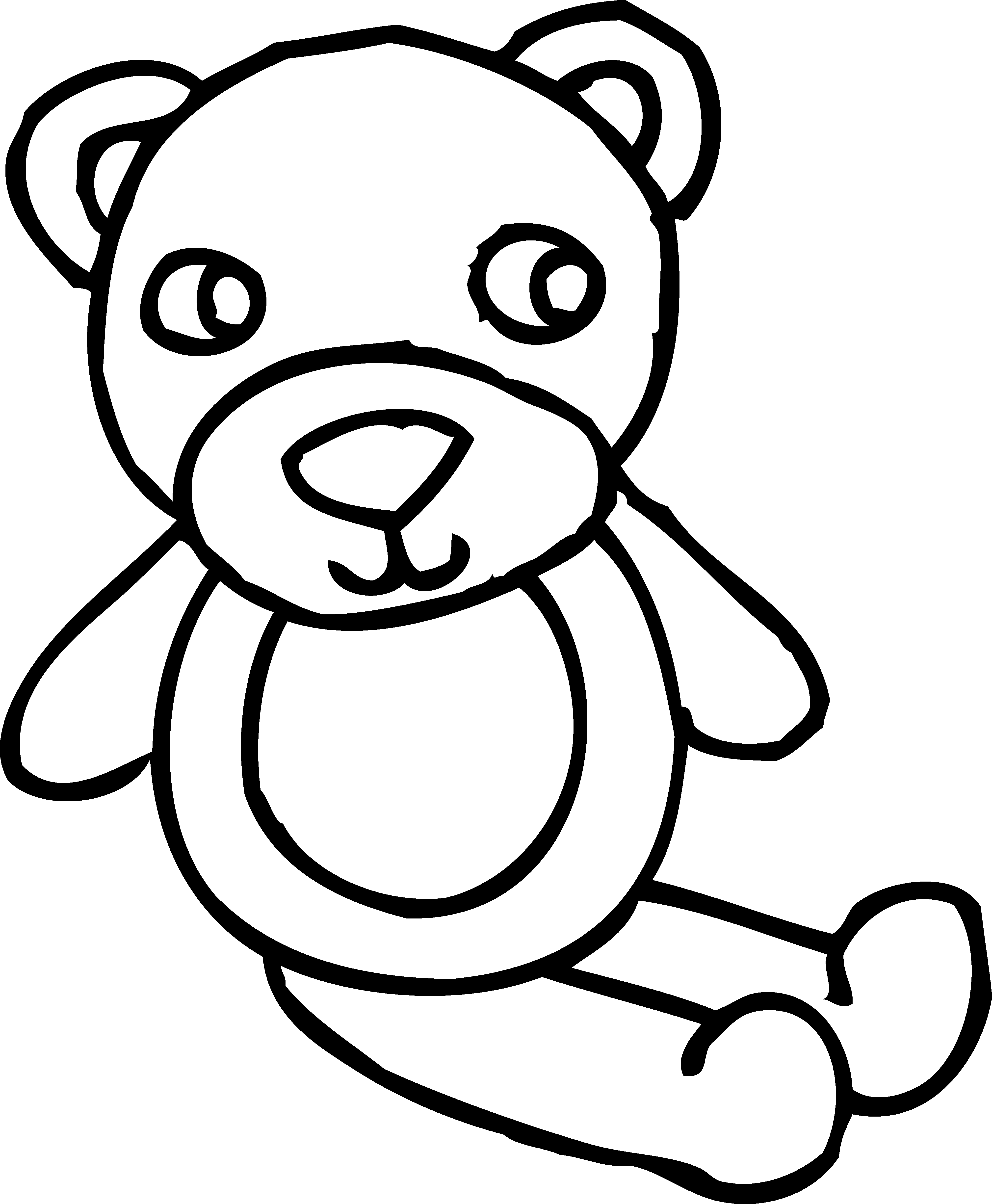 Free Outline Of A Teddy Bear Download Free Clip Art Free Clip Art On Clipart Library