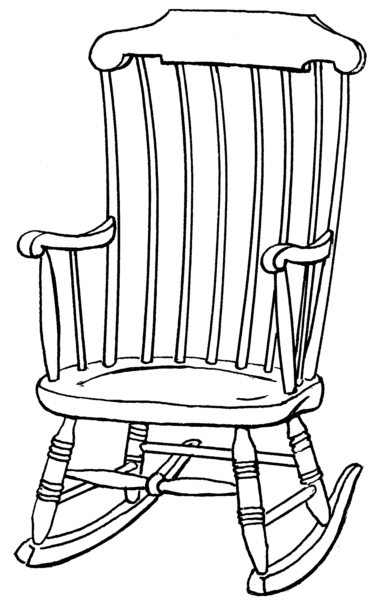 Outline Drawings On Chair Clipart Library