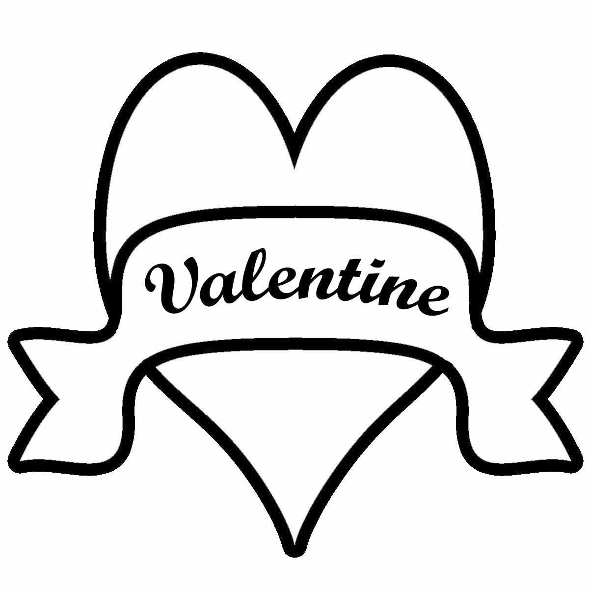 Valentine Clip Art Black And White
