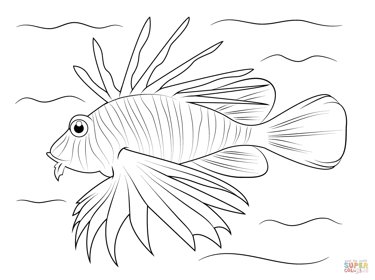 Free Lionfish Coloring Page Download Free Clip Art Free