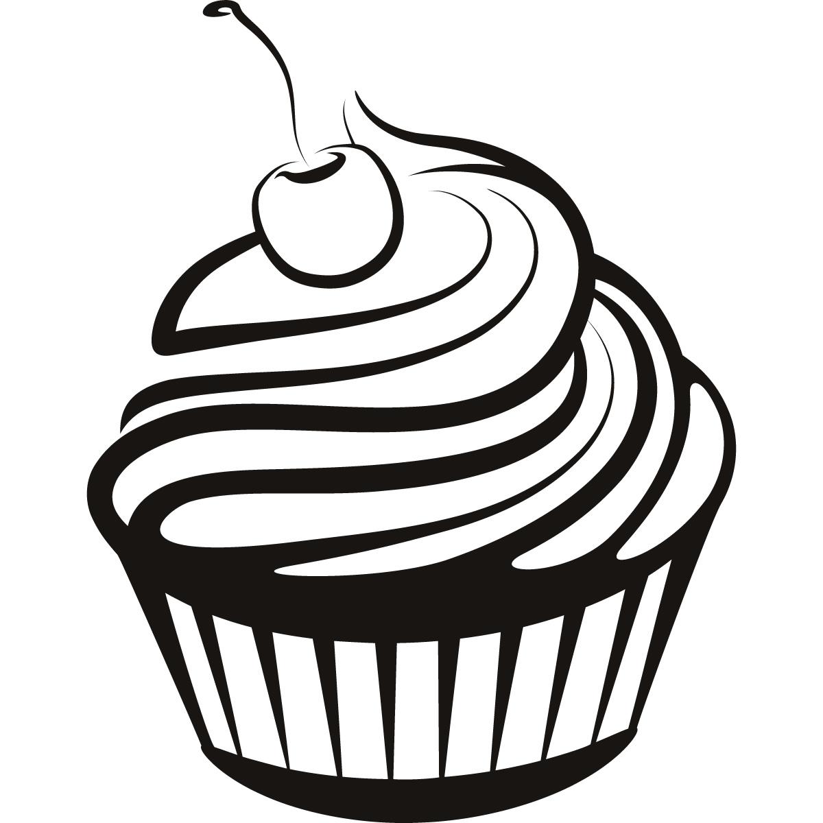 Free Cupcake Silhouette Png, Download Free Cupcake ... (1200 x 1200 Pixel)