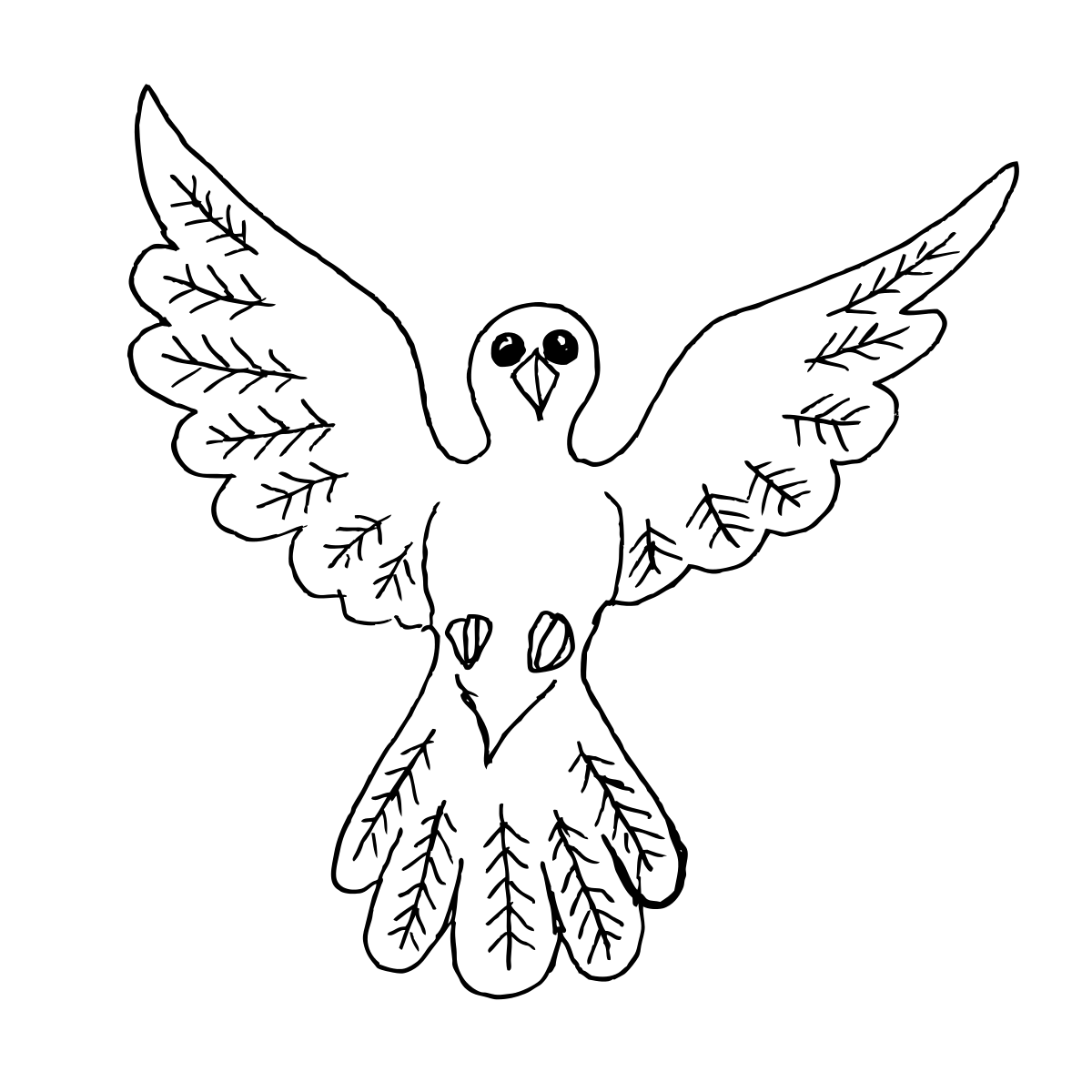 Dove Bird Outline Drawing Clipart By Konand Bird Cliparts