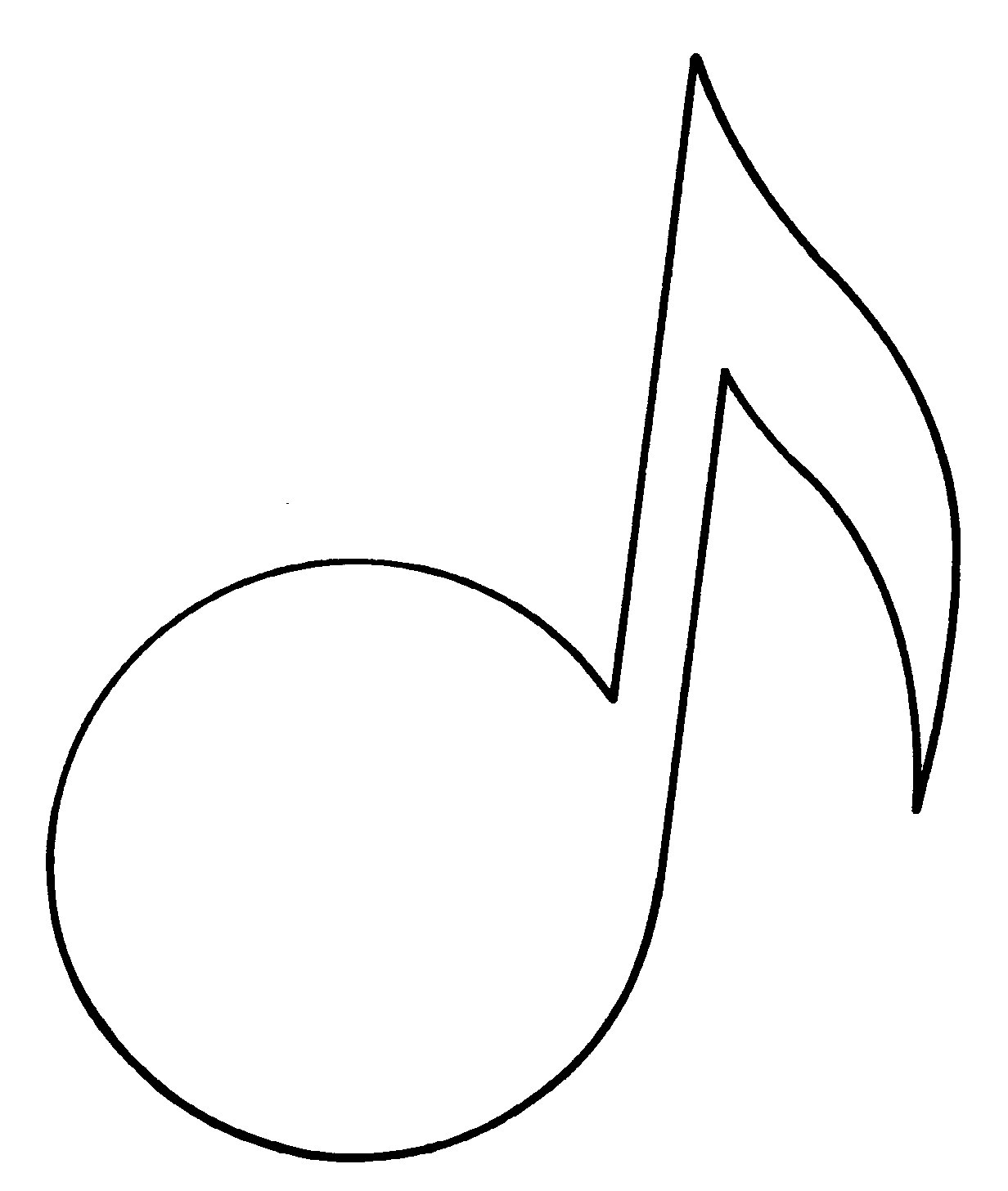 Free Music Note Outline Download Free Clip Art Free Clip Art On Clipart Library