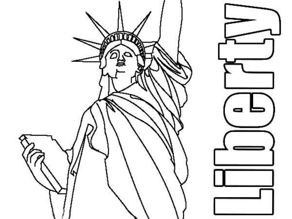 Free Printable Statue Of Liberty Coloring Page For Kids