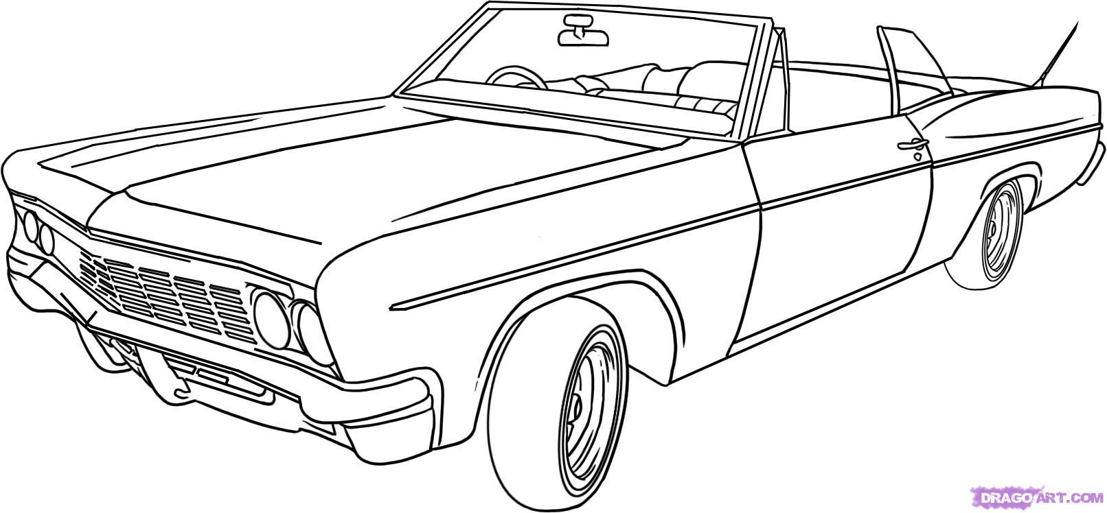 How to draw a lowrider step by step cars draw cars online