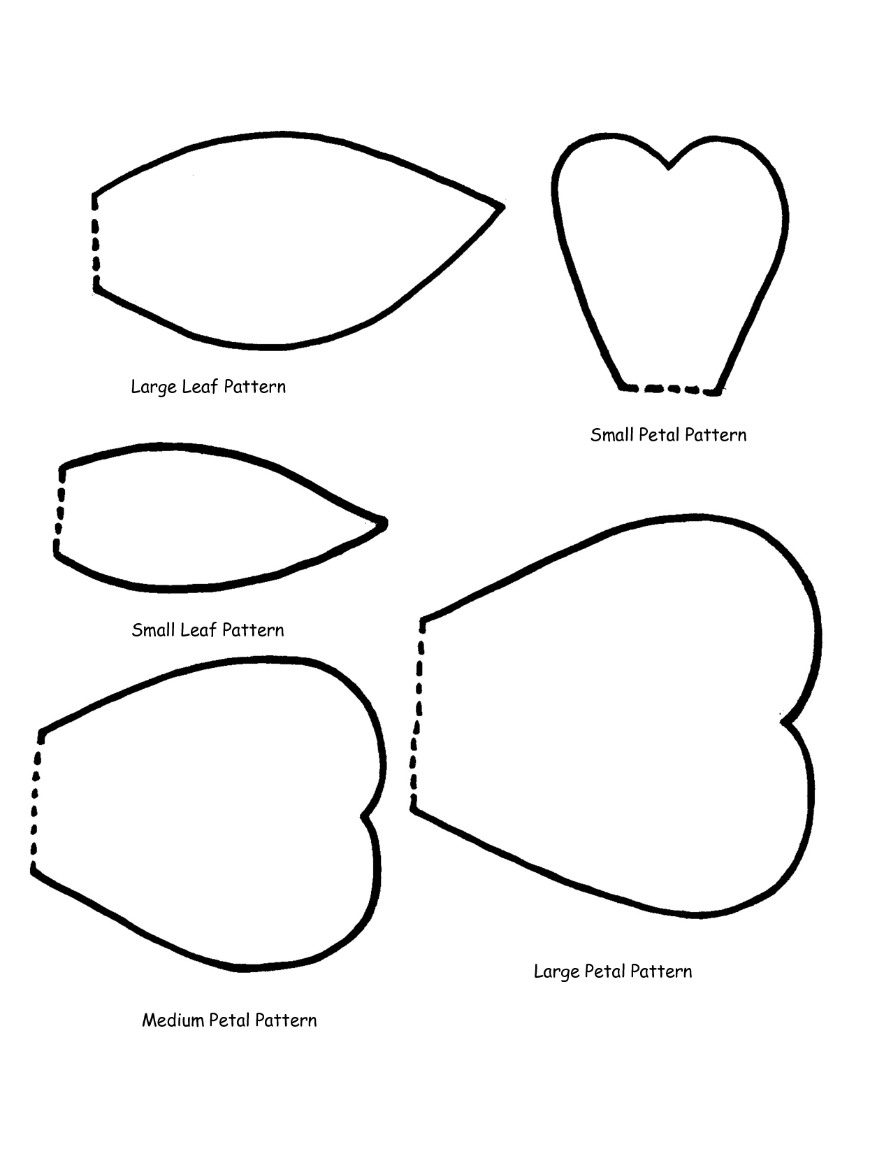 Large Flower Petal Templates