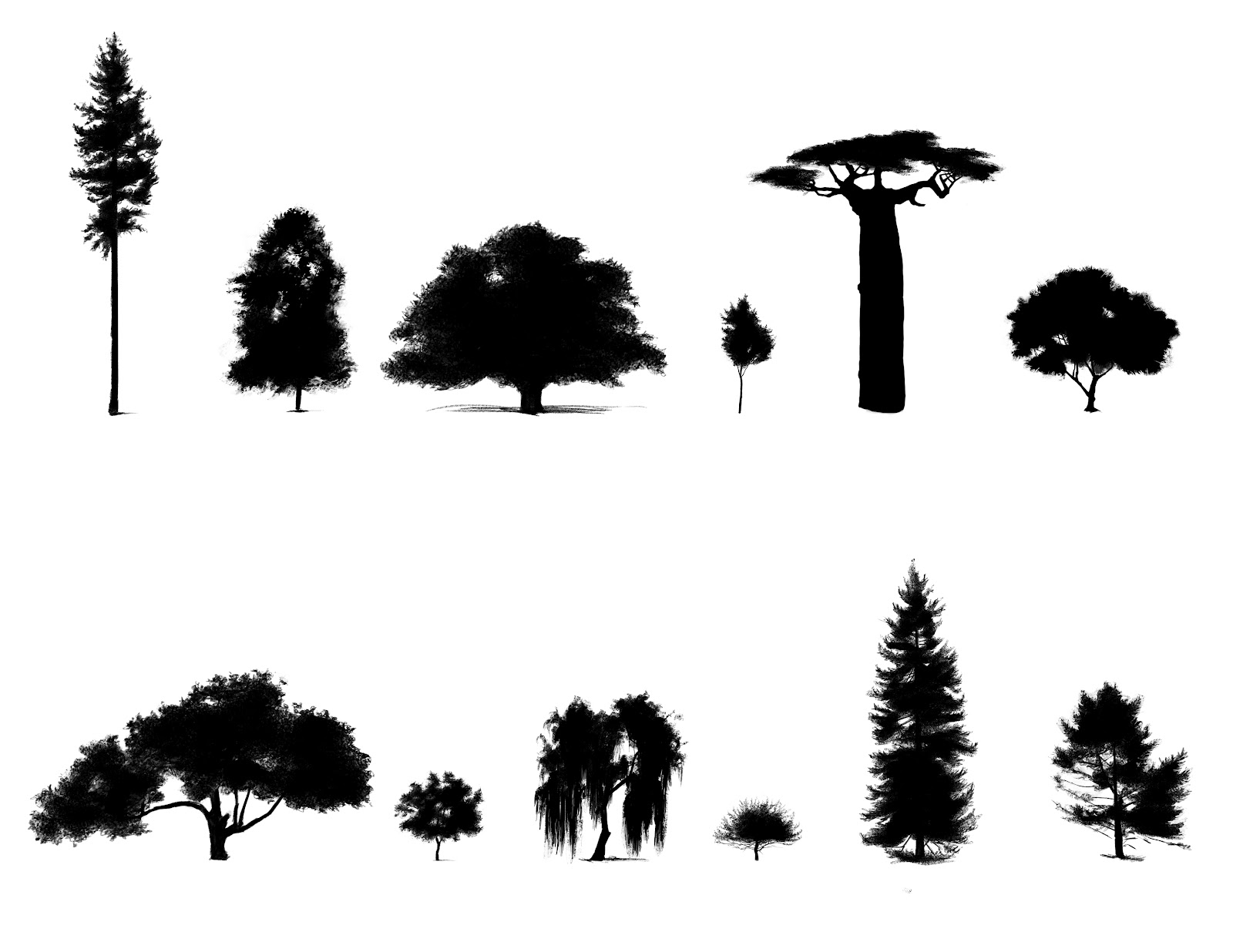 Free Pine Trees Silhouette Download Free Clip Art Free