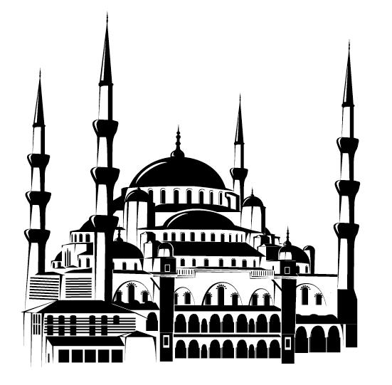 Kumpulan Contoh Gambar Sketsa Masjid Hitam Putih Informasi Masa Kini