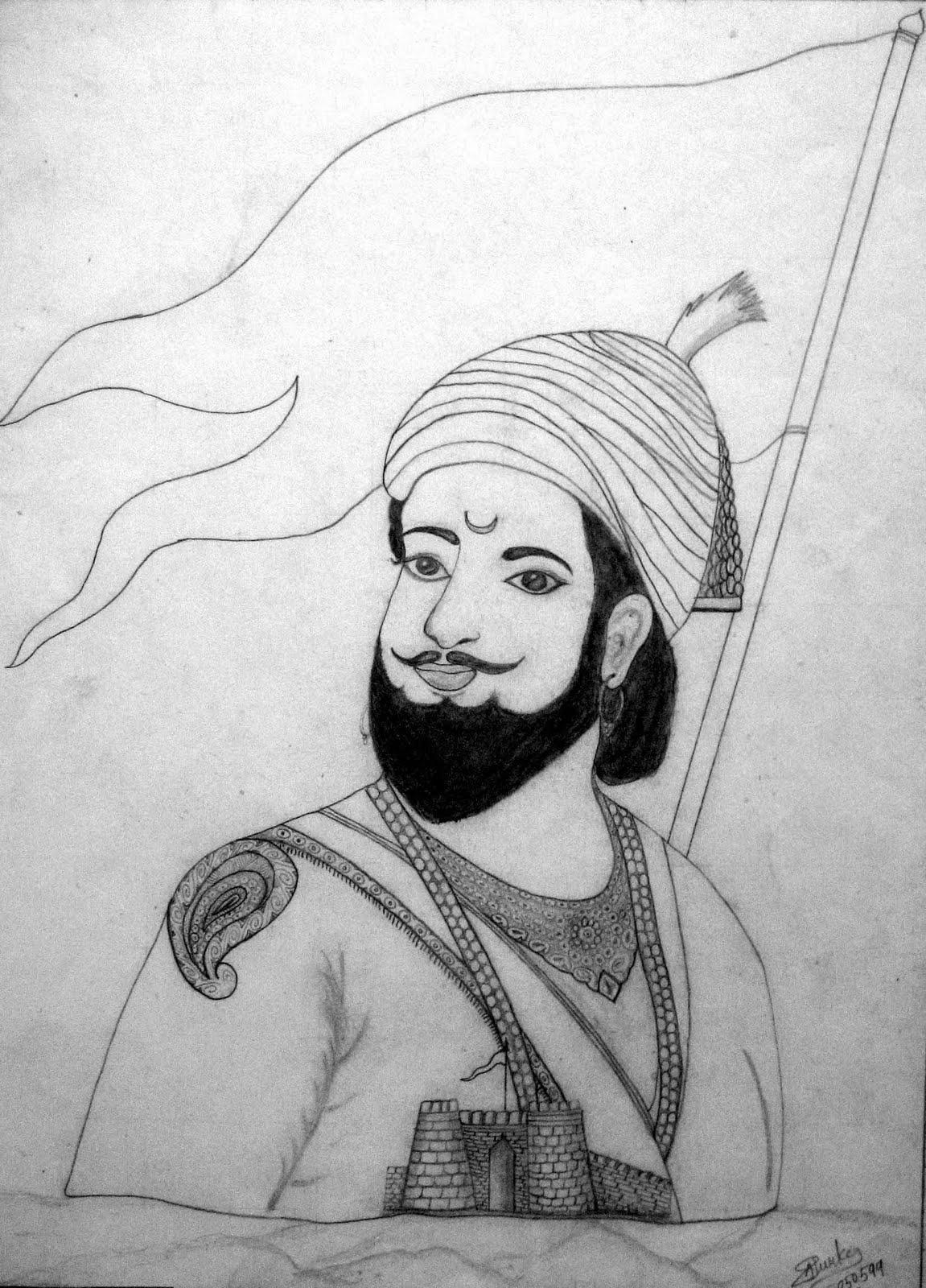 Free Shivaji Maharaj Sketch Download Free Clip Art Free