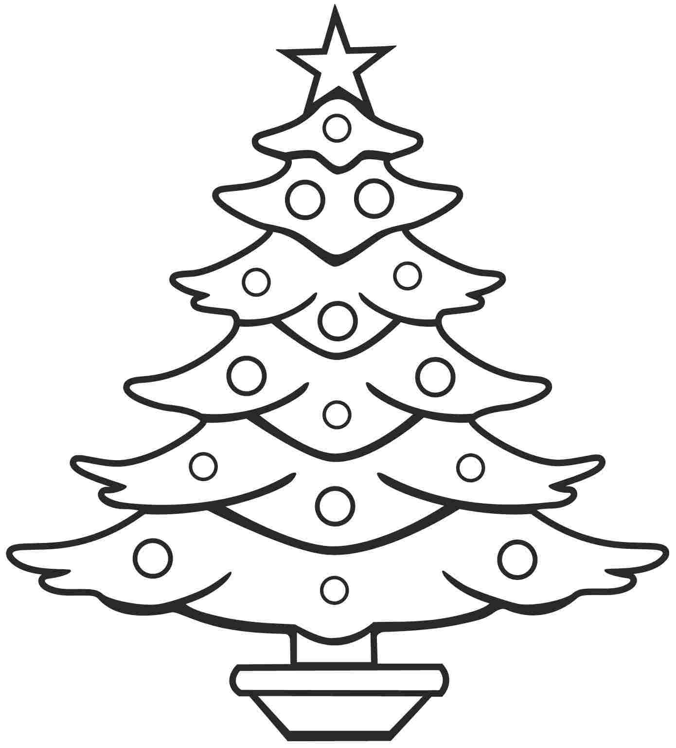 Xmas Stuff For Christmas Tree Coloring Pages For Kids