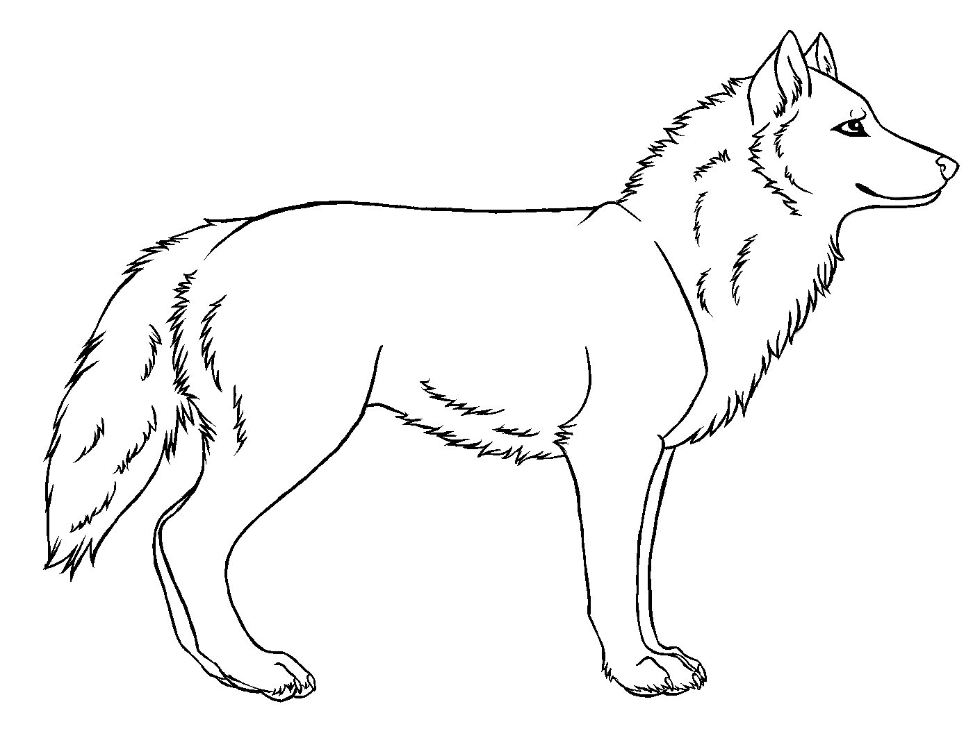 Free Simple Drawings Of Wolves Download Free Clip Art