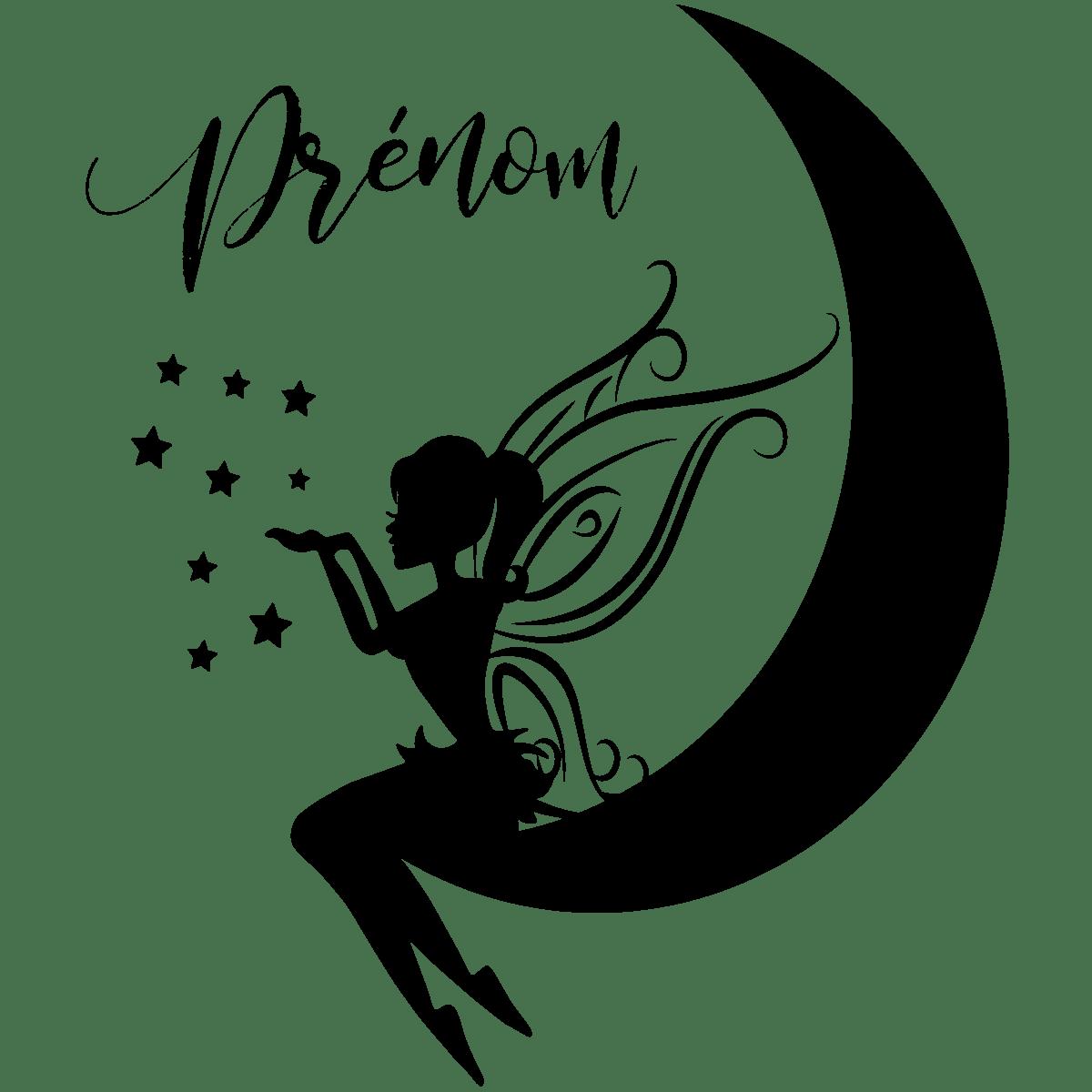 Sticker Fairy Drawing Moon