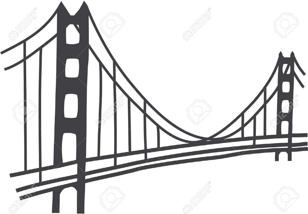 Simple Golden Gate Bridge Clipart