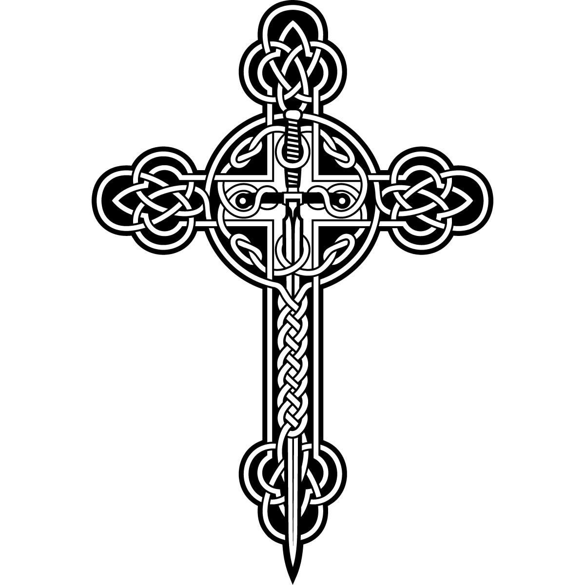 Celtic Cross Clip Art Black And White