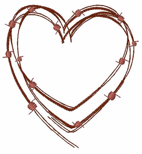 Border Heart Swirl Simple