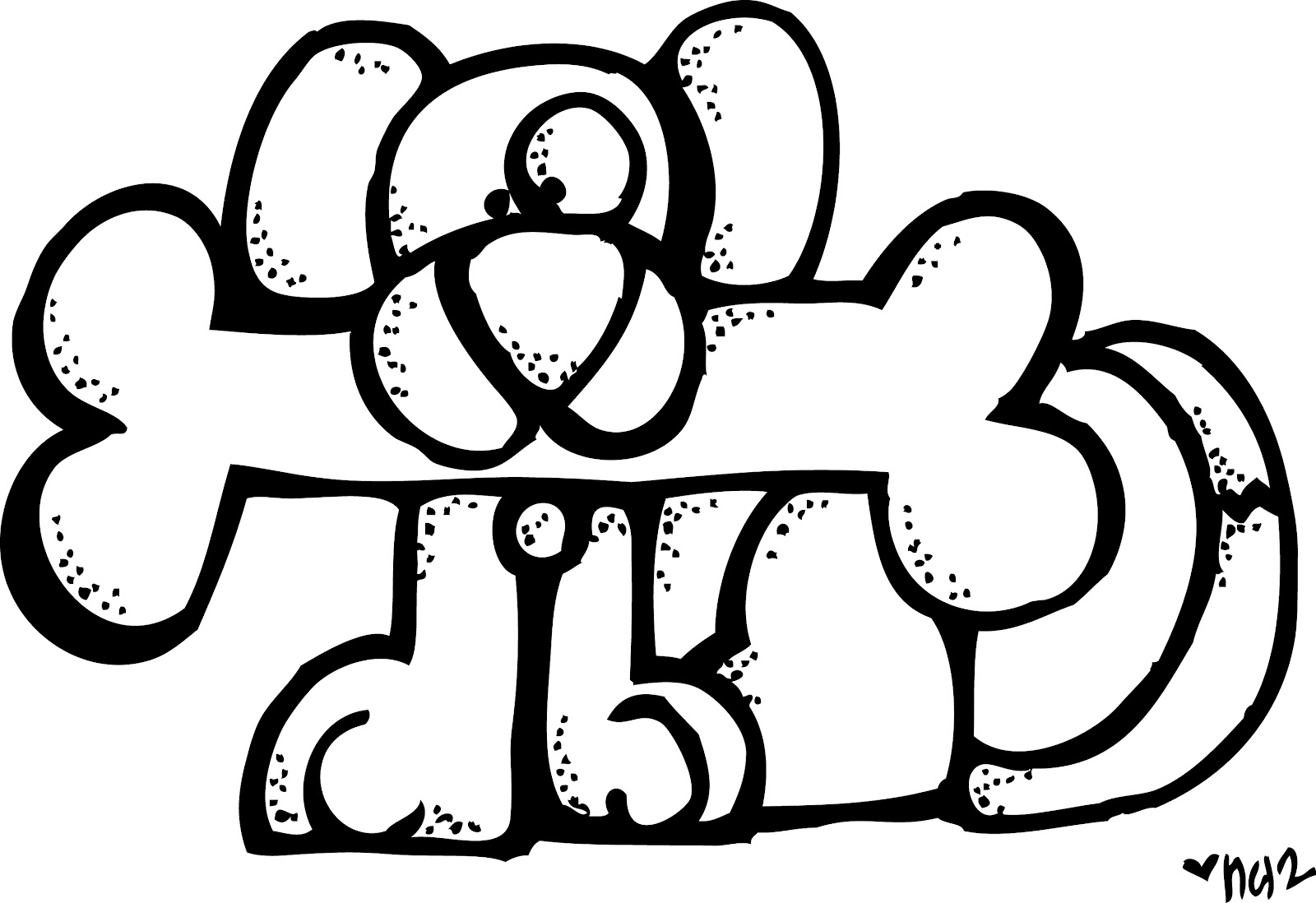 Melonheadz Clipart Boy With Pencil Black And White