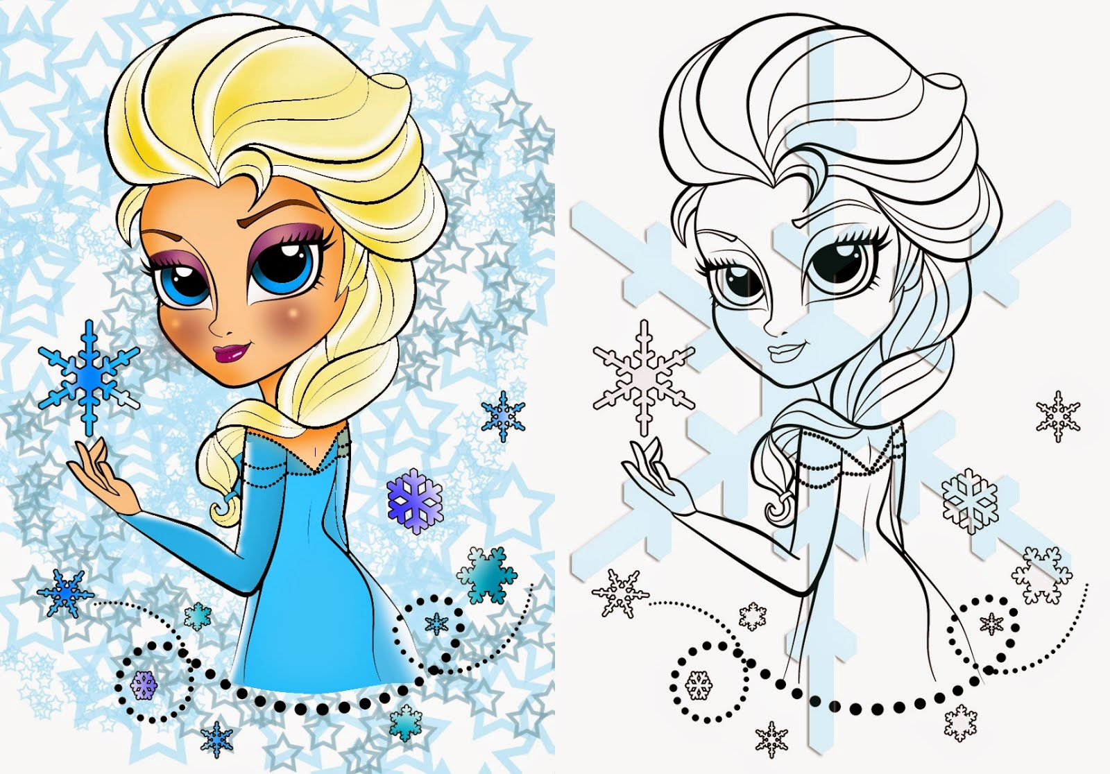 Playful Elsa Printable