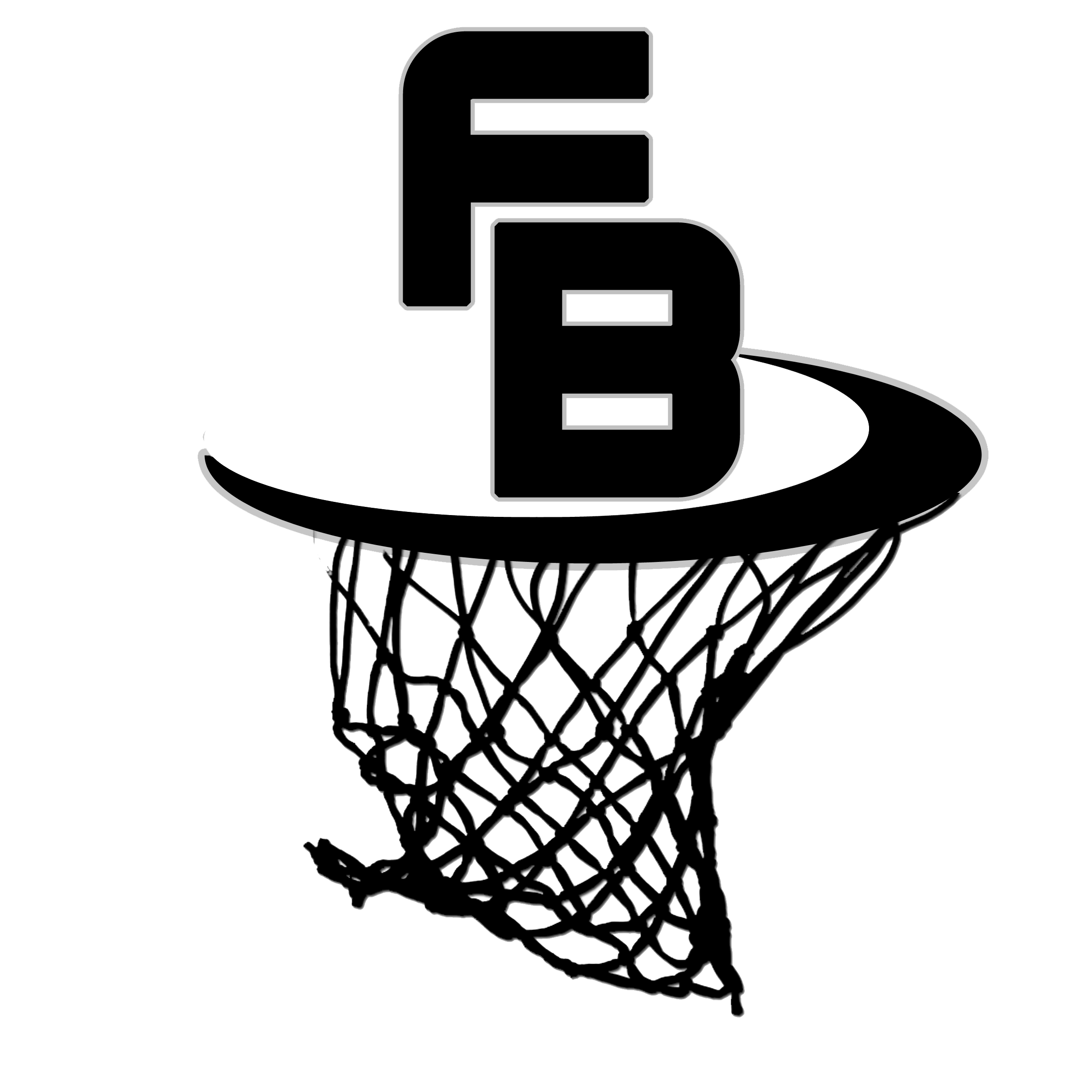 Basketball Vector Black And White Clipart