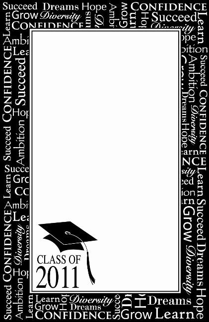 Purple 5 X Graduation 11 8 Border
