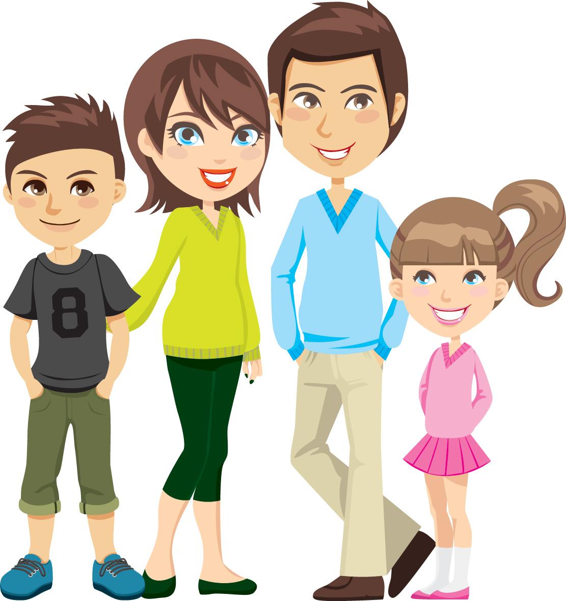 Free Cartoon Family Cliparts, Download Free Cartoon Family ... (1111 x 1178 Pixel)