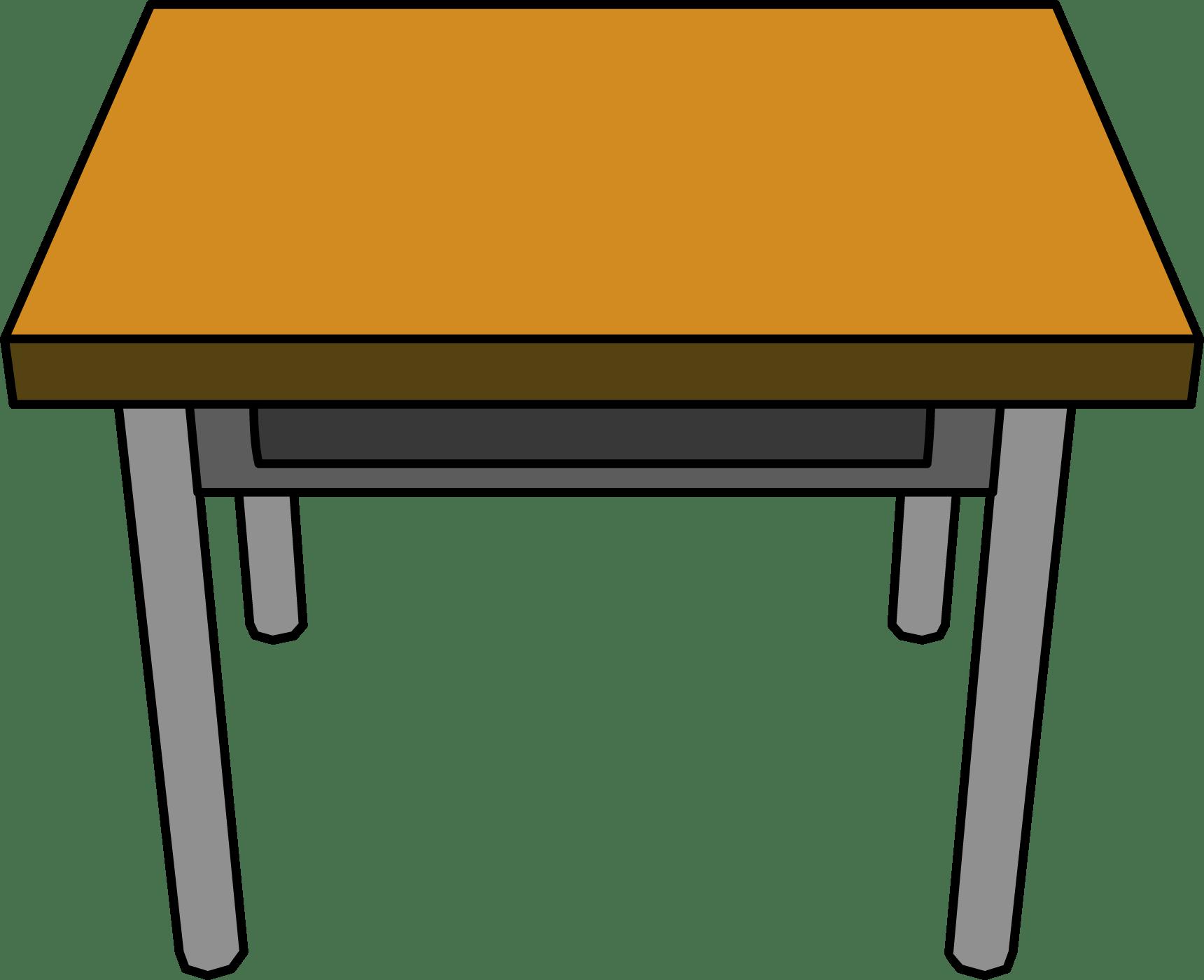 Teacher School Table Clipart
