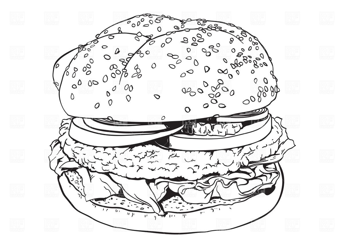 Free Hamburger Cliparts Black Download Free Clip Art