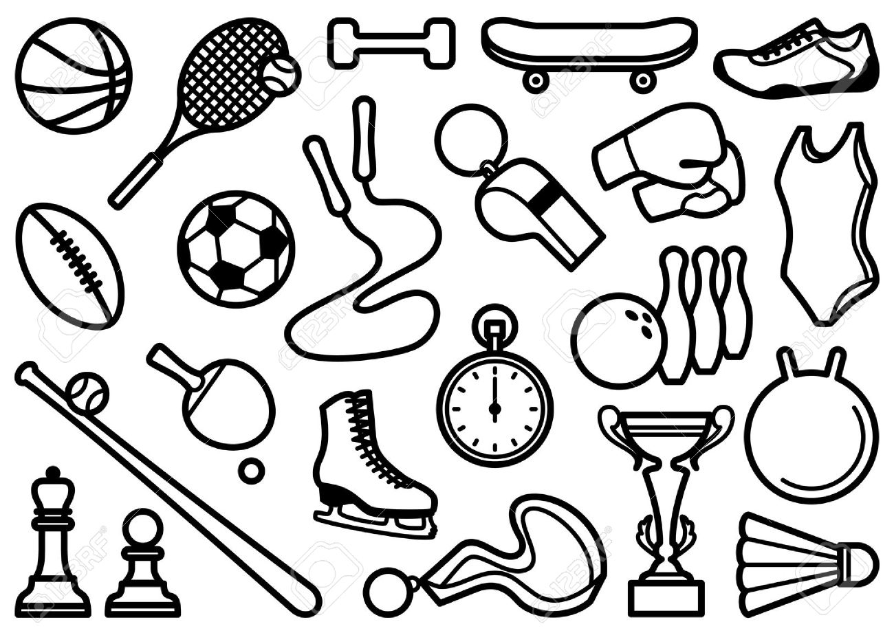 Sports Clipart Black And White
