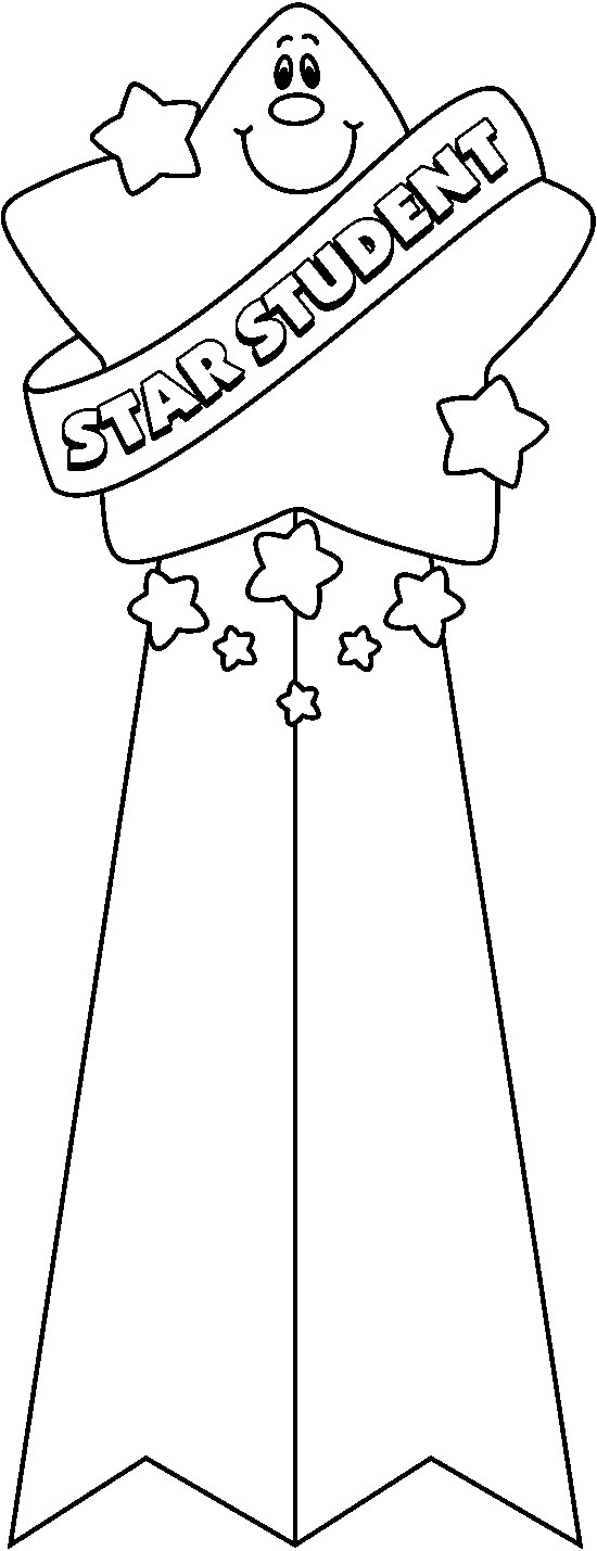 Student Month Clip Art Black And White
