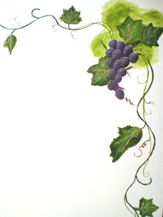 Art Vineyard Border Clip
