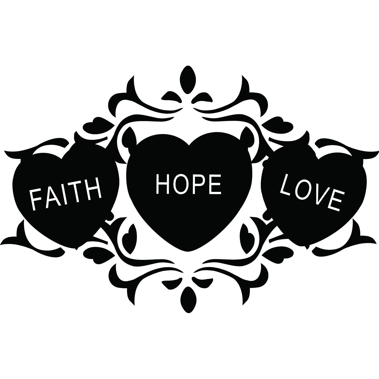 Love White Hope Faith And Black