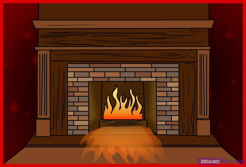 Art Fireplace Silhouette Clip