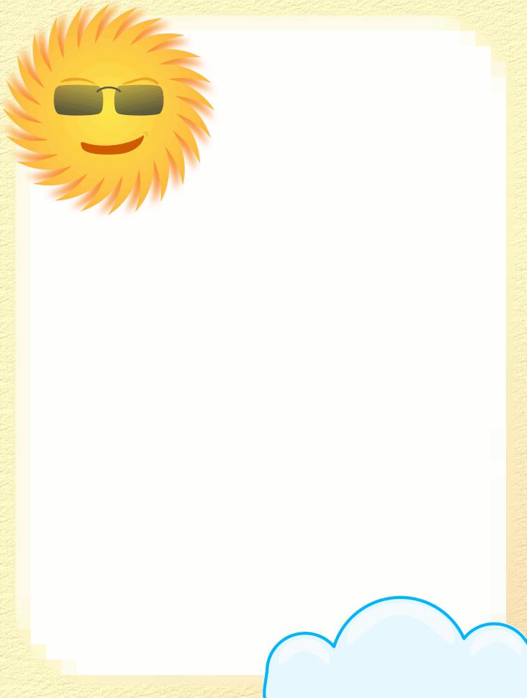 Sun Rays Clip Art Border