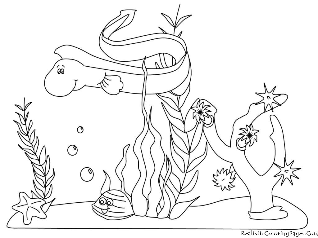 Ocean Plants Coloring Page