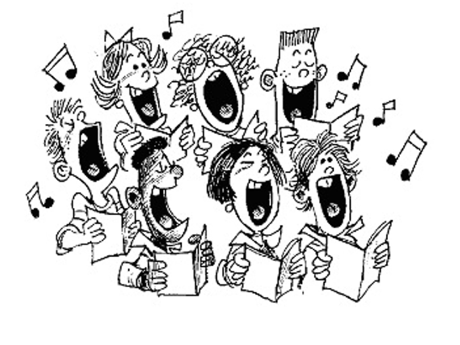 Christmas Choral Concert Clipart