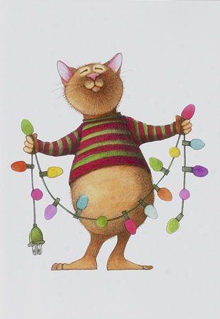 Christmasampcat