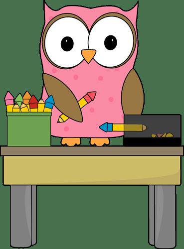Clip And Chalkboard Owl Black White Art