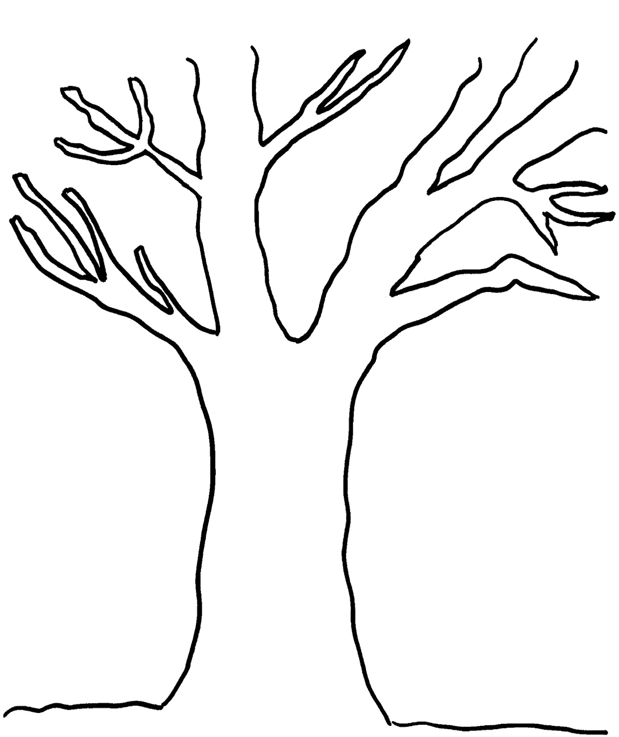 Free Tree Outline Cliparts Download Free Clip Art Free
