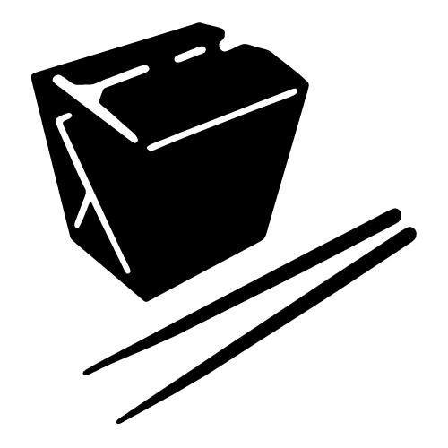 take out box silhouette - Clip Art Library (500 x 500 Pixel)